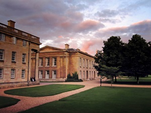 Erin's home for three weeks was the beautiful Downing College