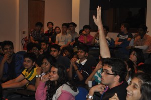 Students enjoying an interesting evening lecture