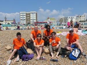 Supervisors on Brighton Beach!