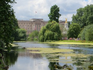 View of the Palace from the scenic St James' Park