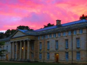 The stunning Downing College at sunset, home to some of our students this August