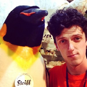 Jonny and a penguin