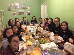 SCGS students enjoy traditional fish & chips
