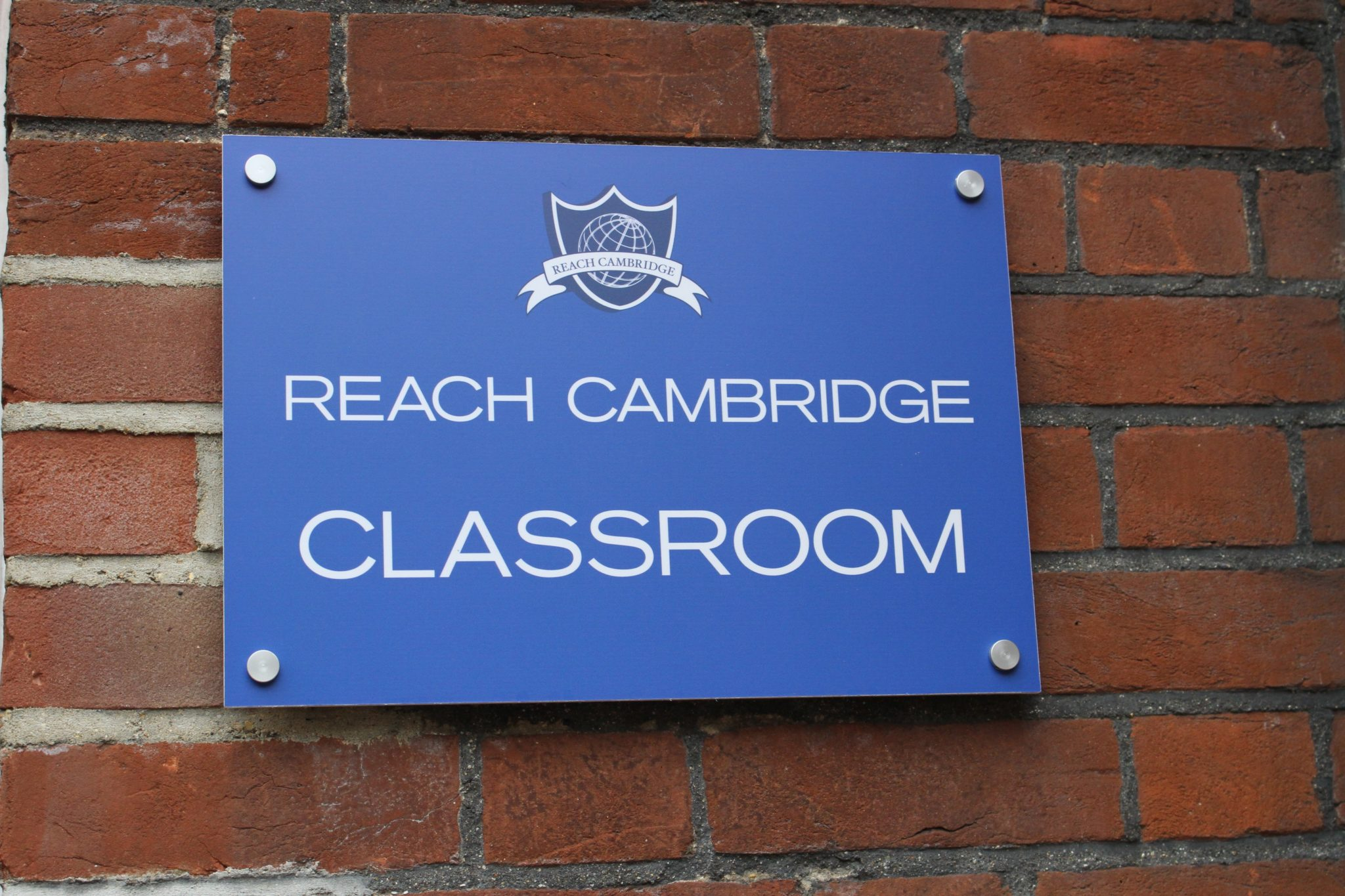 Reach classroom sign